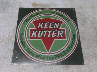 Vintage Keen Kutter Sign