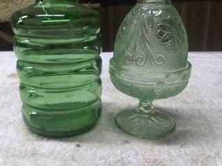 2 Vintage Decorative Glass Pieces