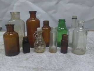 lot of Vintage Small Glass Bottles