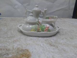 Vintage Small Glass Tea Set