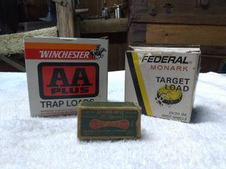 3 Trap load and long Rifle Amo Boxes