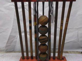 Vintage Croquet game stand