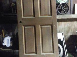 Solid Wood Door With Brass Hinges