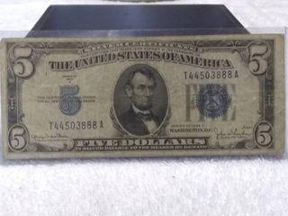 Five Dollar Blue Silver Certificate Series of 1934 D