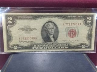 Red Two Dollar Bill Series 1953 C