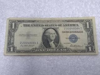 Blue One Dollar Silver Certificate Series 1935 F