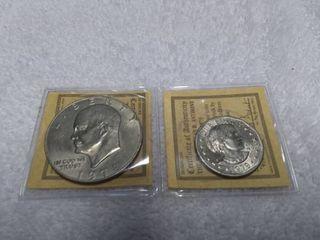 1978 Eisenhower Dollar NMM and 1979 S Susan B Anthony Dollar