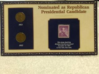 lincoln Penny and Stamp Collector s Display Card