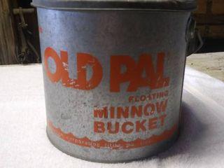 Vintage Old Pal Floating Minnow Bucket
