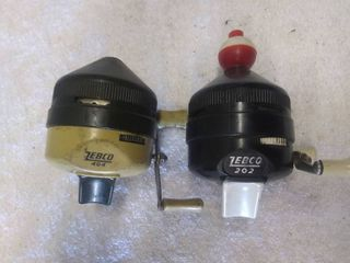 Two Vintage Zebco Fishing Reels 202 and 404