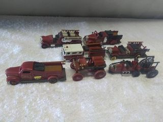lot of 7 Die Cast Model Fire Engines