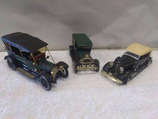 Three Diecast Model Vintage Cars