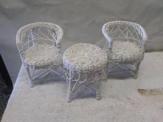 Miniature Wicker Rattan Furniture