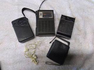 3 Vintage Transistor Radios
