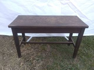 Vintage Wooden Piano Bench or Coffee Table