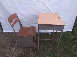 Vintage School Desk and Seat