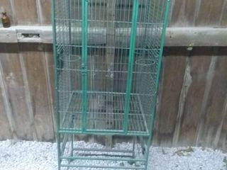 Vintage Birdcage on Casters