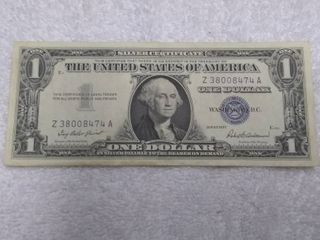 Blue One Dollar Silver Certificate Series 1957