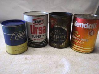 4 Vintage Oil Cans