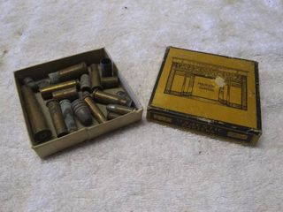Box of Vintage Bullets and Shells