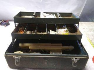 Vintage Walton Products Tackle Box and Tackle