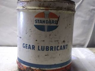 Vintage Standard Gear lube tin can