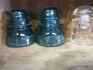 3 Vintage Insulators