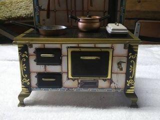 Vintage toy oven set