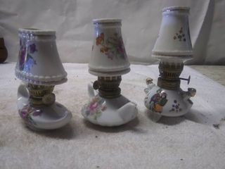 Vintage Small Oil lamps