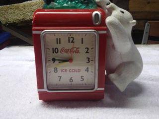 Vintage Coca Cola Clock and Piggy Bank