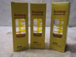 3 Vintage Aranesp Amgen Renal Advances Bubbler