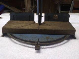 Vintage Pittsburg Steel Mitre Saw Stand