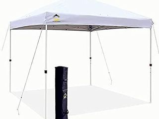 Outdoor Canopy Portable Shade Instant Folding With Carry Bag 10 X 10 Ft White