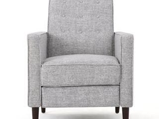 Christopher Knight Home Mervynn Mid Century Modern Fabric Recliner  light Grey Tweed