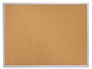 Quartet Cork Board  Bulletin Board  3  x 2  Corkboard  Aluminum Frame  2303