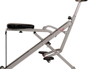 Sunny Health   Fitness Squat Assist Row N Ride Trainer for Squat Exercise and Glutes Workout