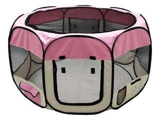 AlEKO Octagonal Portable Pop up Pet Playpen