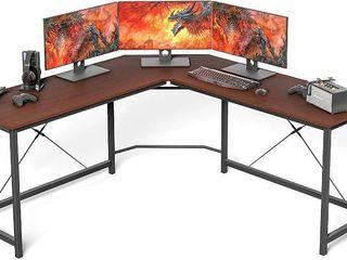 l shaped desk for home  office and desk  Coleshome Walnut Computer Desk