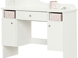 South Shore White Makeup Drawer Desk