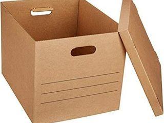 Amazonbasics Moving Boxes With Handles   Medium  10 pack Medium