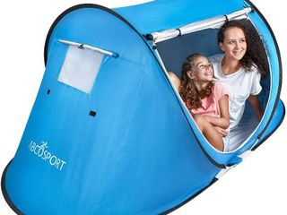 Pop Up Tent  Automatic Instant Tent  Portable Cabana Beach Tent   Fits 2 People  Windows and Doors on Both Sides  Waterproof  UV Protection   Carry Bag Included