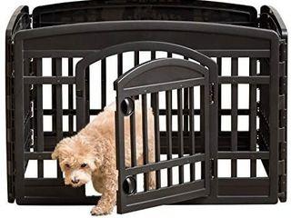 IRIS USA 24  4 Panel Exercise Pet Playpen with Door  Black CI 604E   MISSING THE DOOR PIECE