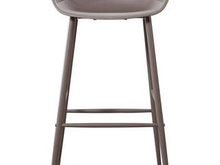 Moe s Home Collection QX 1004 15 Piazza 37 inch Grey Outdoor Barstool  Set of 2