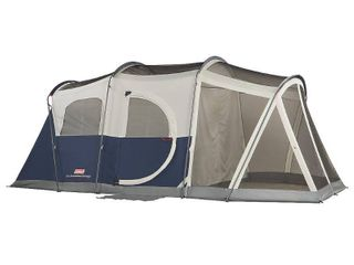 Coleman Elite WeatherMaster 6 Person lighted Tent with Screen Room   UNTESTED  NOT SURE IF TENT HAS ANY RIPS OR TARES