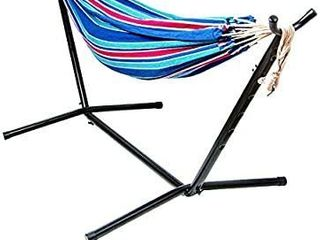 BalanceFrom Double Hammock with Space Saving Steel Stand and Portable Carrying Case  450 Pound Capacity   MIGHT BE MISSING HARDWARE