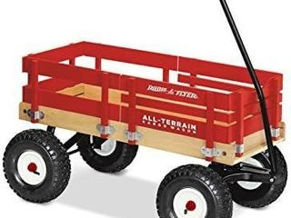 Radio Flyer All Terrain Cargo Wagon for Kids  Garden and Cargo  Red   MIGHT BE MISSING HARDWARE