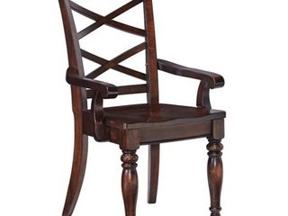 Ashley Porter Rustic Brown Dining Room Arm Chair   Set of 2