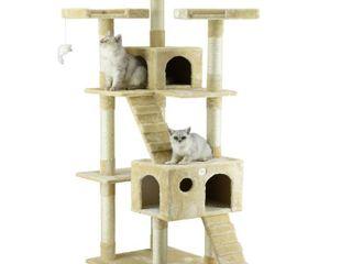 Go Pet Club 72  Tall Beige Cat Tree Furniture