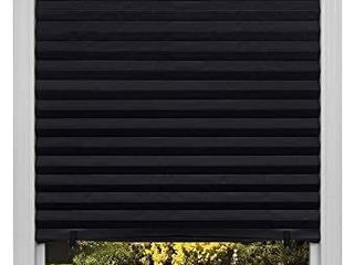 Original Blackout Pleated Paper Shade Black   2 pack