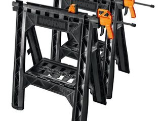 WORX Clamping Sawhorses  pair with 2 clamps WX065